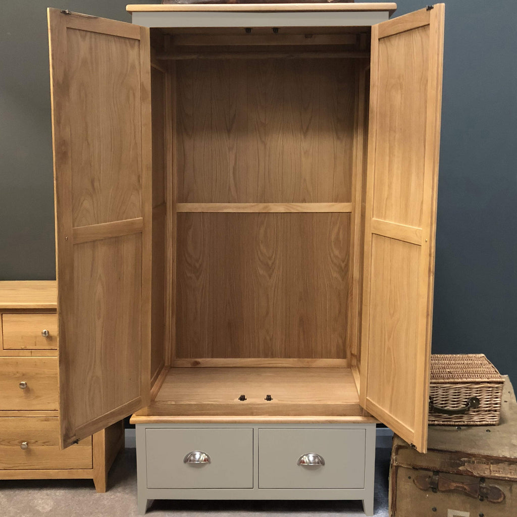Woburn Grey Painted 2 Door Wardrobe - Oak Village