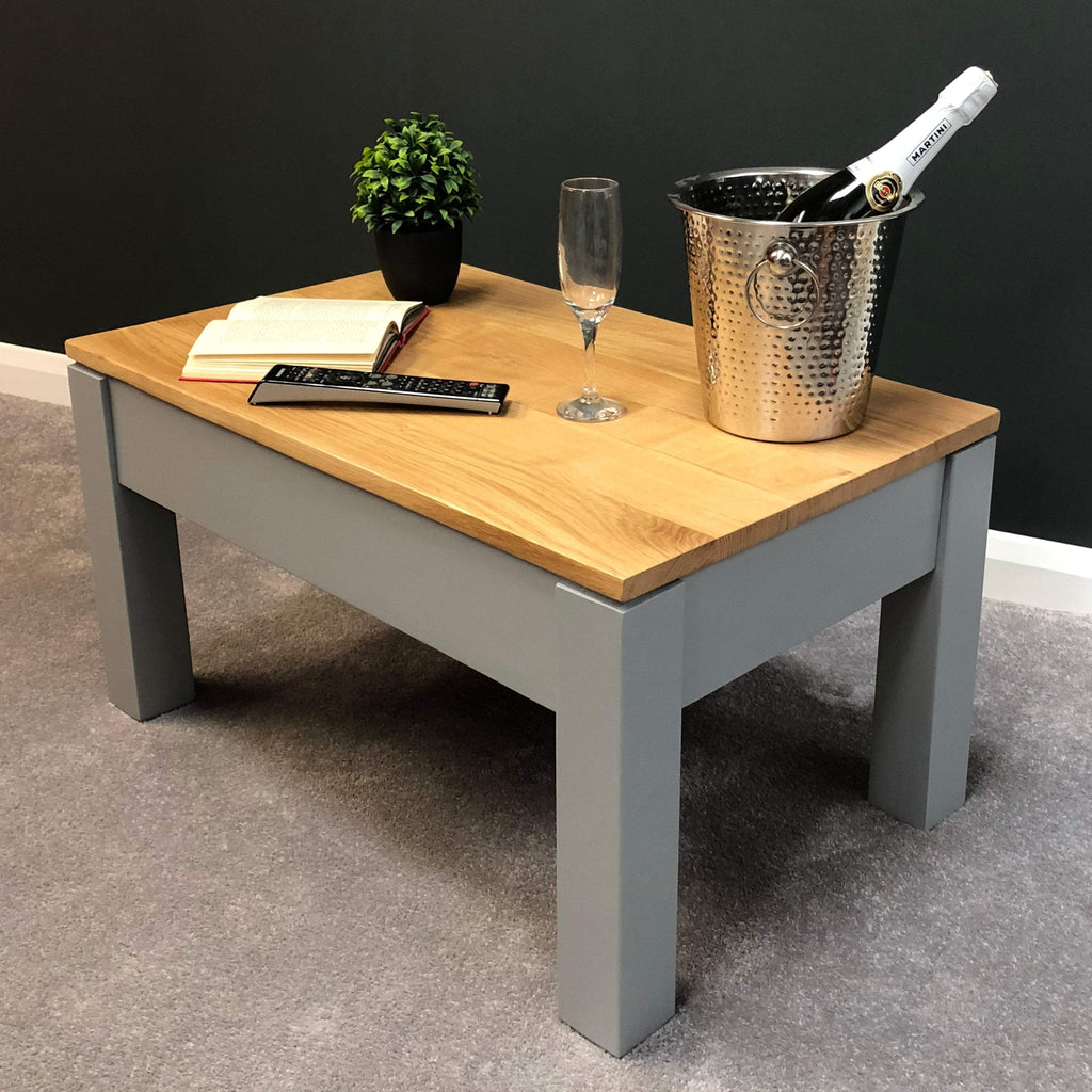 York Painted Grey Coffee Table - Oak Village