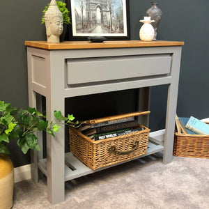 York Painted Grey Console Table - Oak Village