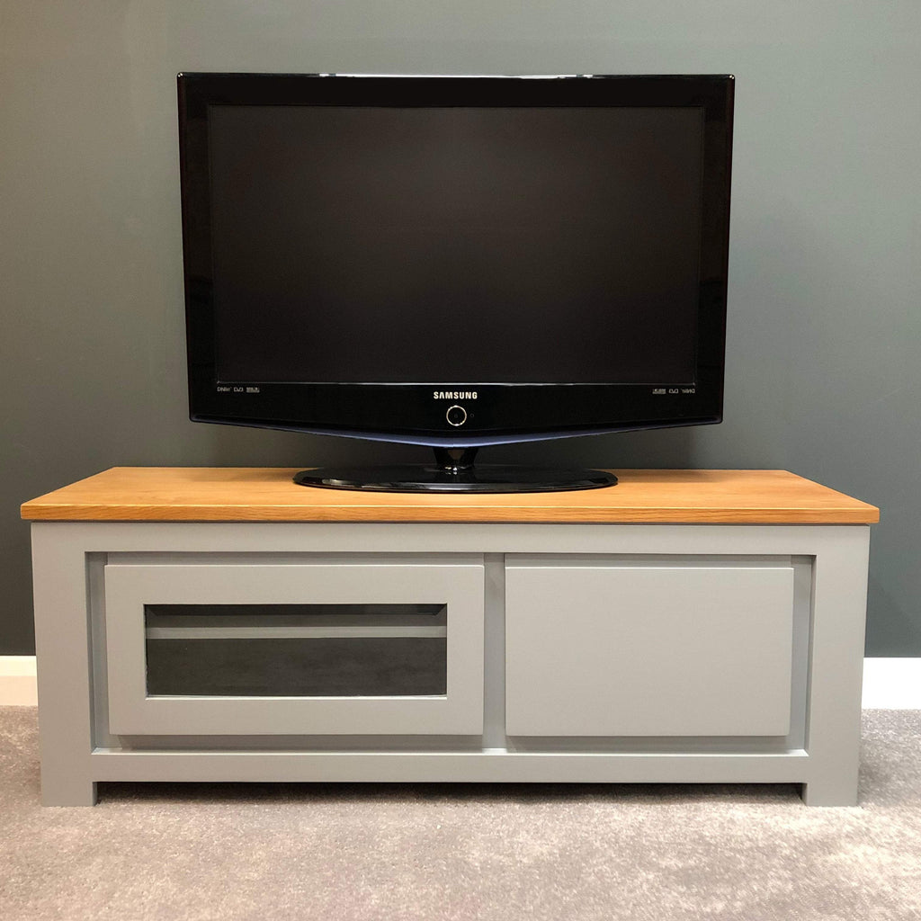 York Painted Grey Plasma Unit - Oak Village