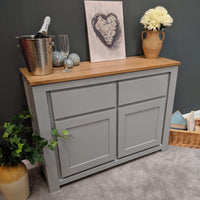 York Painted Grey Sideboard - Oak Village