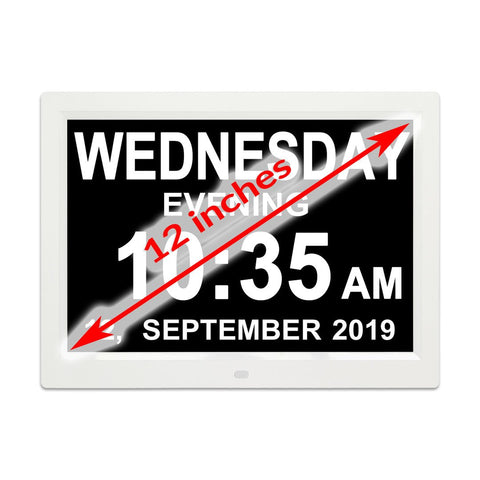 12.1 Digital Calendar Day Clock Orientation Clock