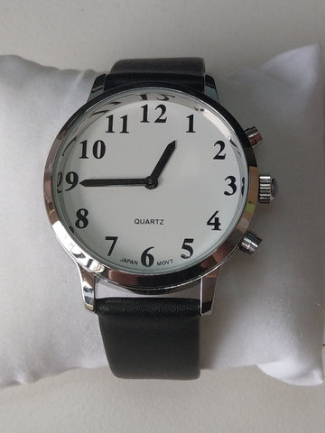 Large Male British Voice 2 Button Talking Watch