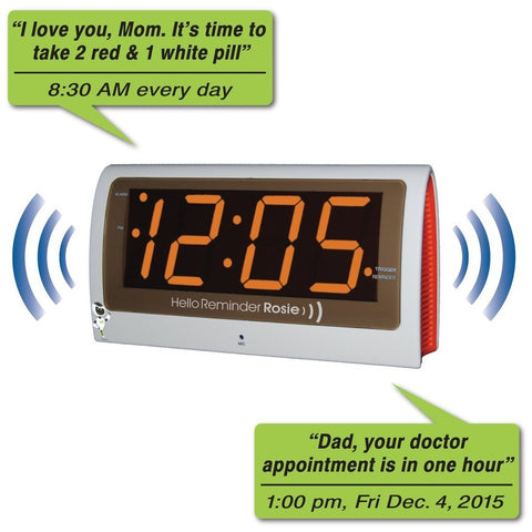 Reminder Rosie Voice Activated Reminder Alarm Clock