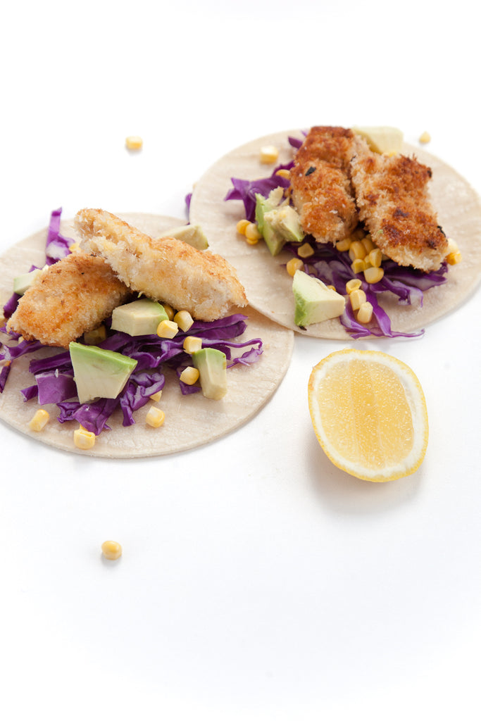 Rainbow Fish Tacos / Panko Crumb Fish Fingers