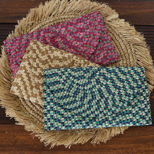 Clutch - Woven Seagrass in Various Colours