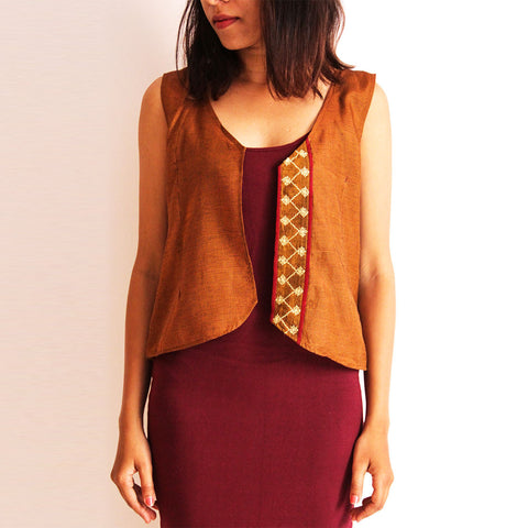 Mustard Cotton Vest by Dori