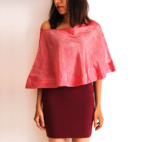 Pink Cotton Cape  by Dori