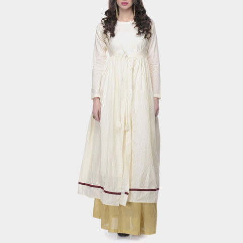 White Cotton Wrap Tunic With Inner by ans by astha & sidharth