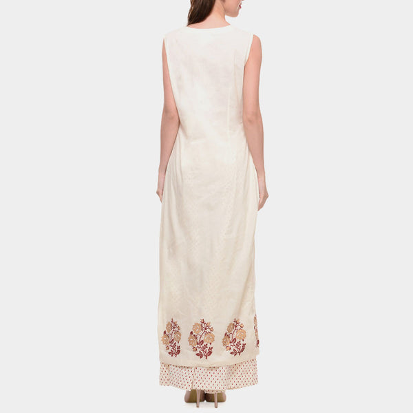 White Cotton Tunic With Front Slit
