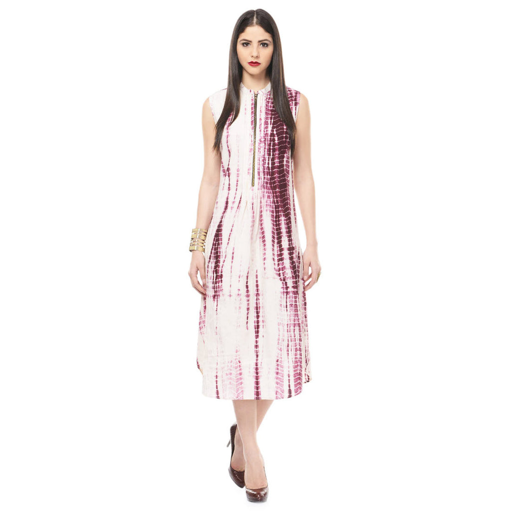 White Tie & Dye Dress in Muslin