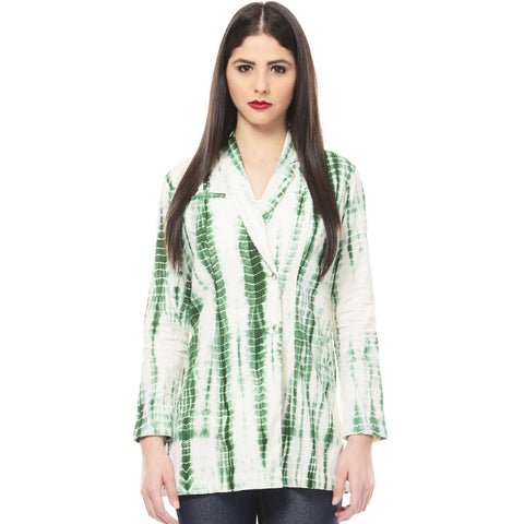 Green Tie & Dye Coat In Muslin by Ans by Astha & Sidharth