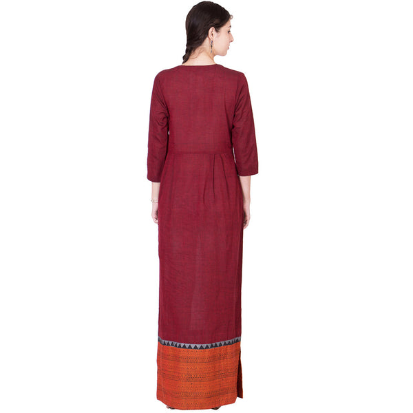 Maroon Cotton Maxi