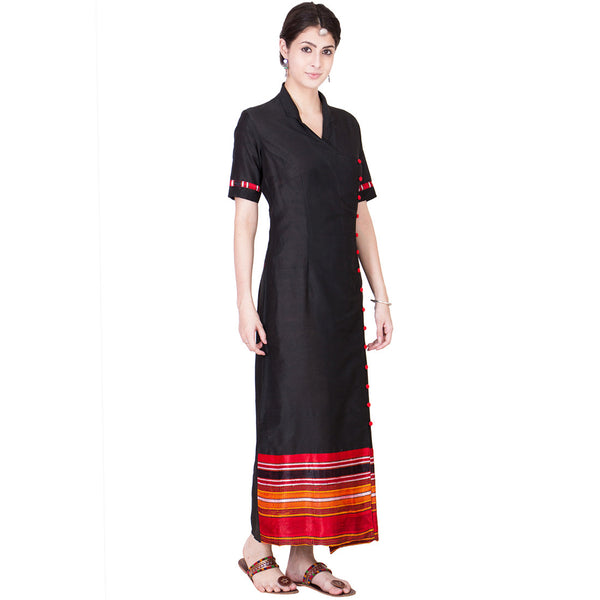 Black Cotton Silk Maxi
