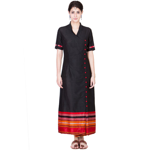 Black Cotton Silk Maxi by ans by astha & sidharth