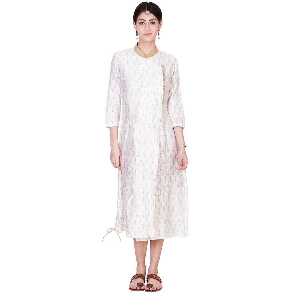 White Cotton Silk Tunic by ans by astha & sidharth