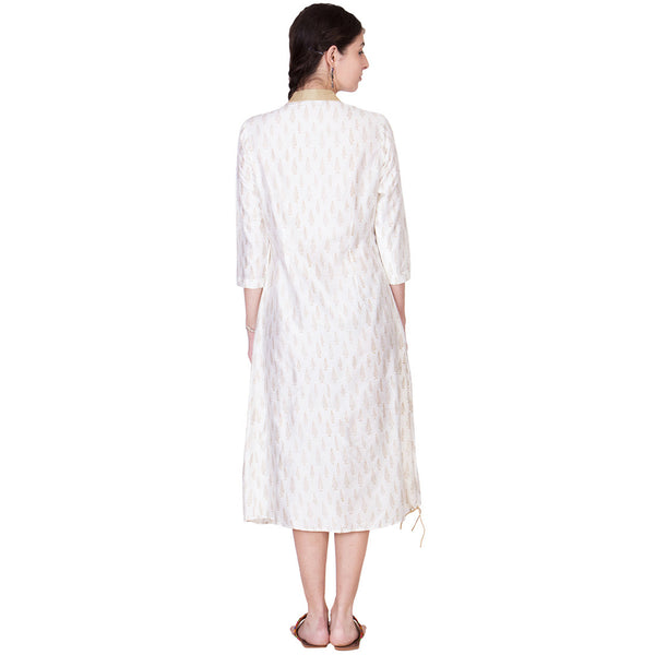 White Cotton Silk Tunic