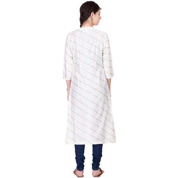 Off White Cotton Silk Wrap