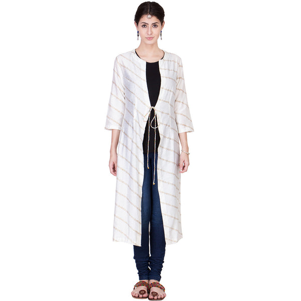 Off White Cotton Silk Wrap by ans by astha & sidharth