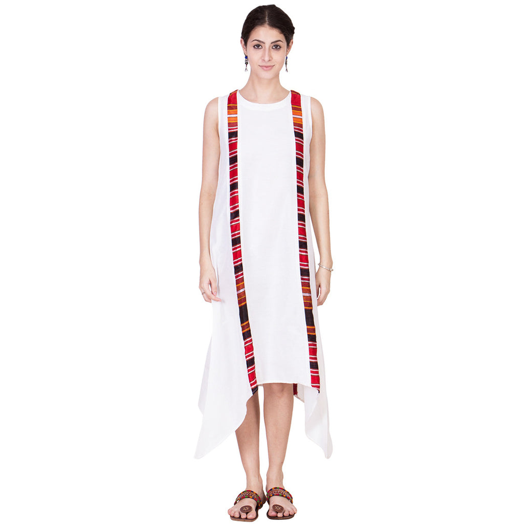 Off White Cotton Silk Tunic by ans by astha & sidharth