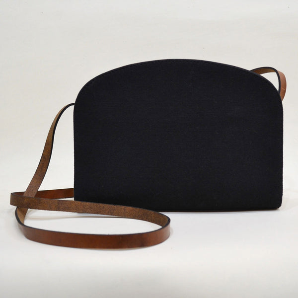 Blurred Planes Black Essential Leather Sling Bag