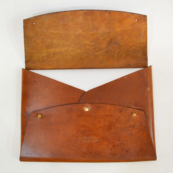 Leather Minimal Carrier Brown Laptop Sleeve