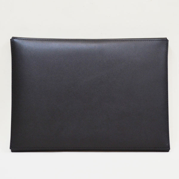 Leather Minimal Carrier Black Laptop Sleeve
