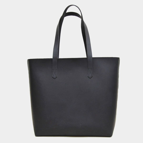 Black Classic Leather Tote