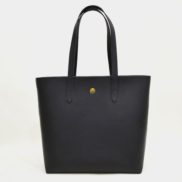 Black Classic Leather Tote by Cord