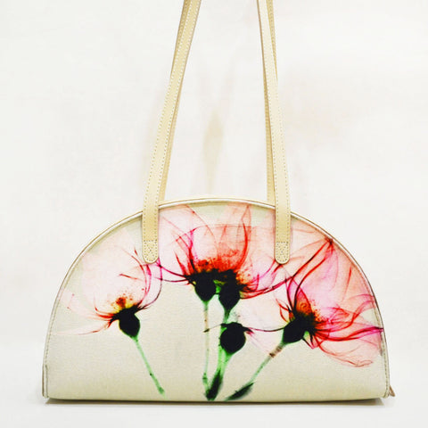 Canvas & Leather Pink Floral Bloom Hemicycle Carry Bag by Cord