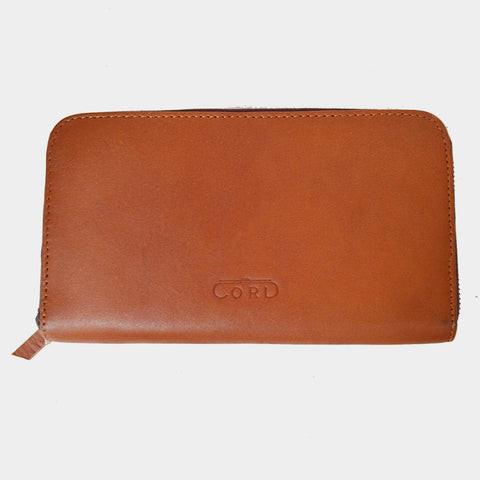 Handcrafted Brown Leather Double Chamber Wallet by Cord