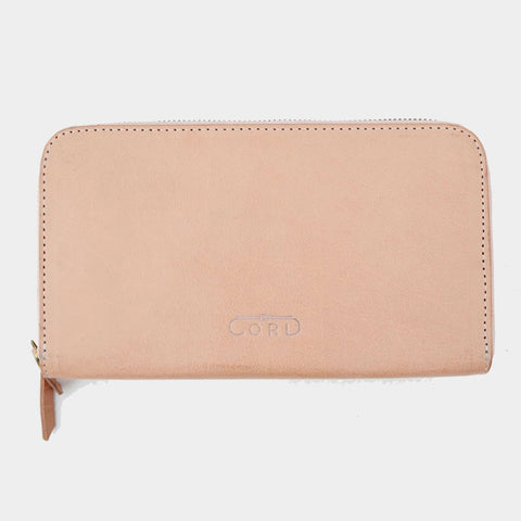Handcrafted Beige Leather Double Decker Wallet by Cord