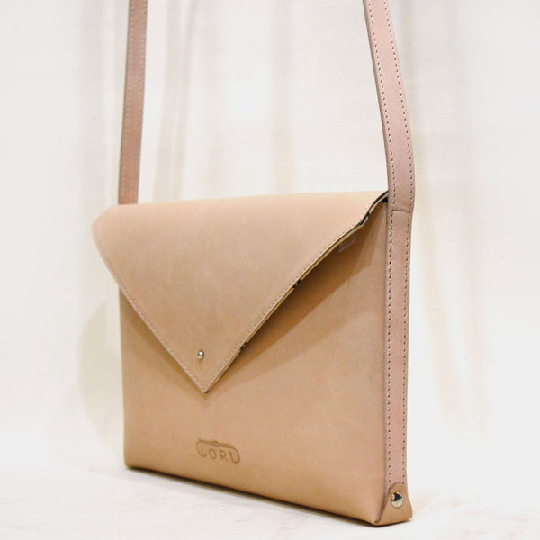 Pink Envelope Saddle Leather Bag