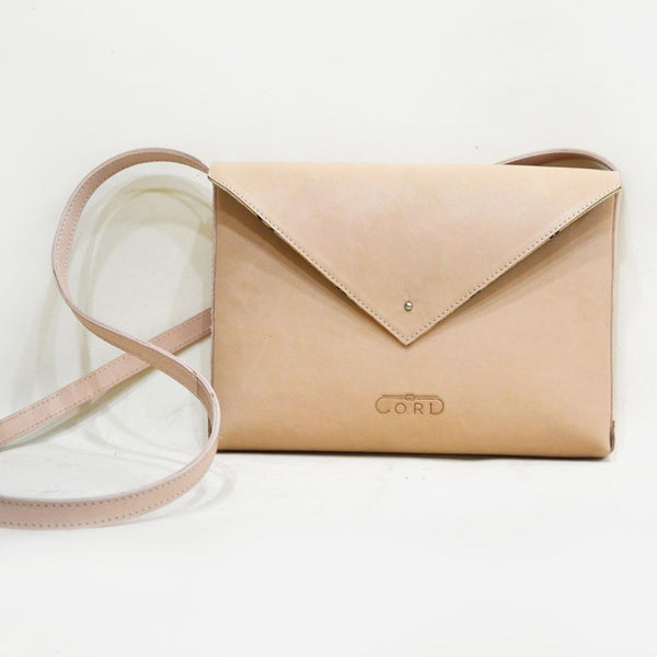 Pink Envelope Saddle Leather Bag by Cord