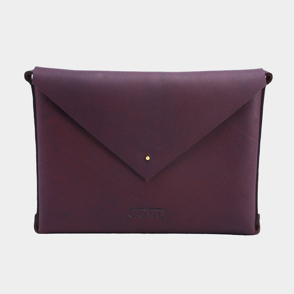 Cheery Handcrafted Saddle Leather Envelope Bag