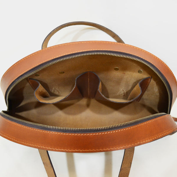Tan Hemicycle Saddle Leather Bag