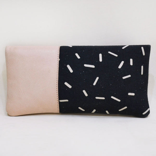 Black Lost Capsule Limber Leather Clutch