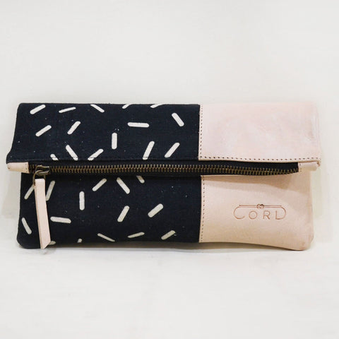 Black Lost Capsule Limber Leather Clutch by Cord