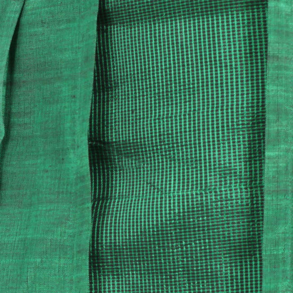 Ilkal Handwoven Cotton Green Layered Skirt