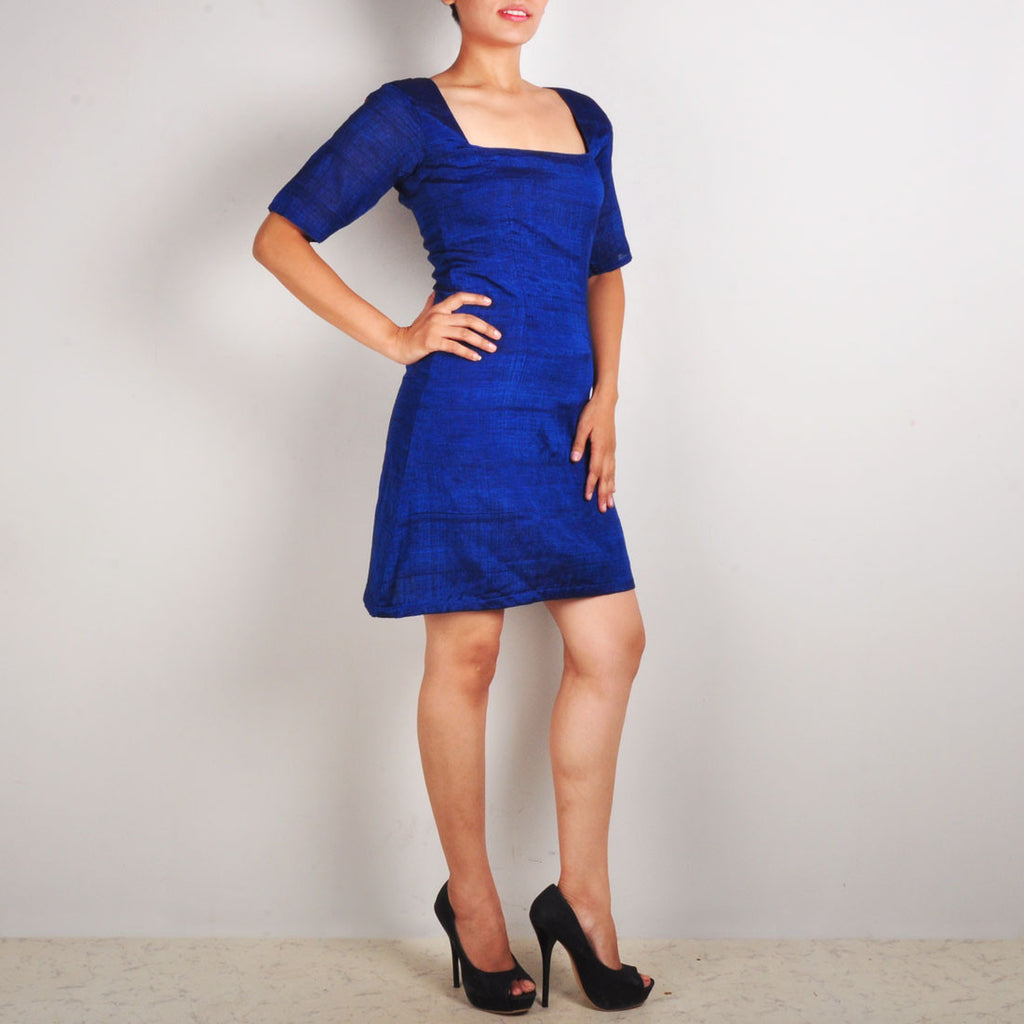 Royal Blue Dress With Peephole Back by Dori