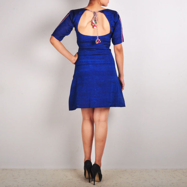 Royal Blue Dress With Peephole Back