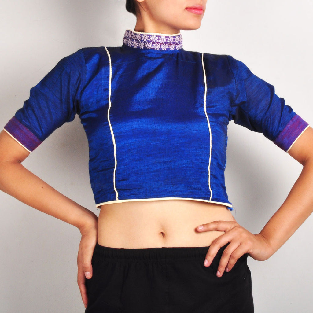 High collar crop top by Dori