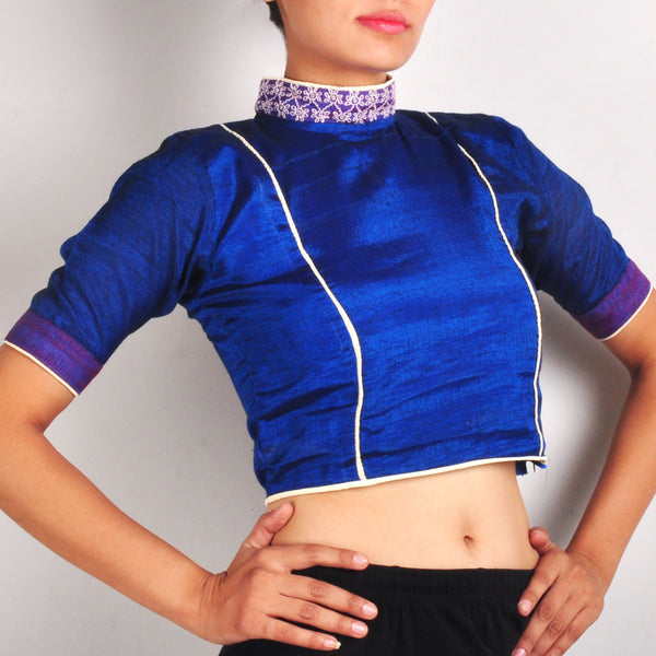 High collar crop top