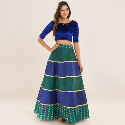 Peacock Top & Skirt by Deepa Pant