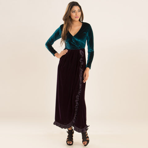 Emerald Berry Tulip Dress by Deepa Pant