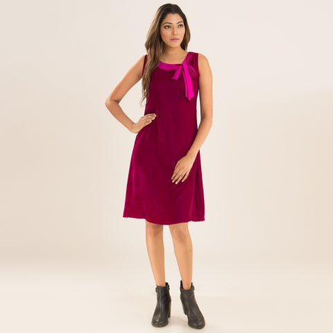 Purple Berry Swing Dress by Deepa Pant