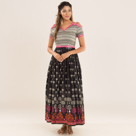 Bohemian Melange Dress in Cotton by Deepa Pant