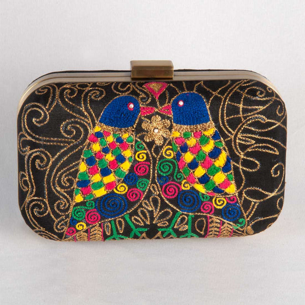 Bird Motif Clutch by Tresor