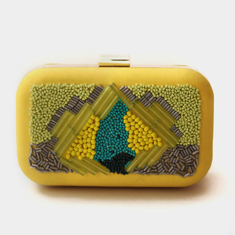 Yellow Jelo Clutch by ETRE