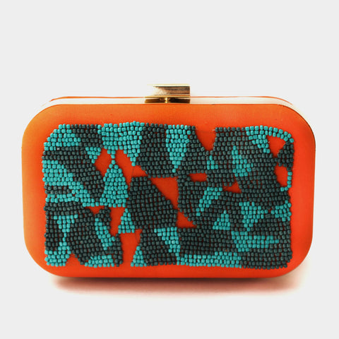 Art Blue Clutch by ETRE